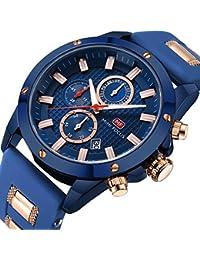 MF MINI FOCUS Men Sport Watches Chronograph Fashion Waterproof Quartz Wrist Watch for Friend Gift