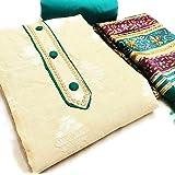 zeus exclusive khadi dress material suit for beautifull women.
