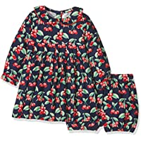 Rachel Riley Cherry Flannel Dress & Bloomers,