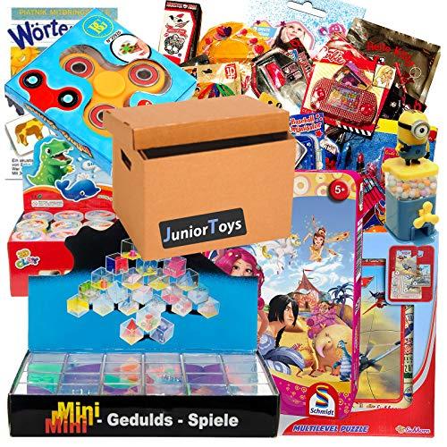 JuniorToys Restpostenpaket Kleinspielwaren und Lizenzartikel 50 Artikel - Ideal als Wurfmaterial für Karneval, Tombola oder Mitgebsel für den Kindergeburtstag