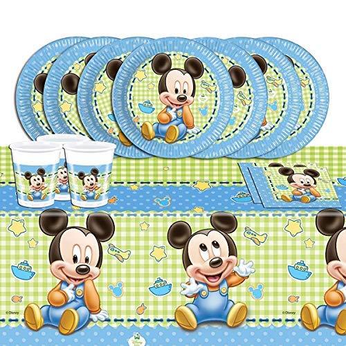 53- teiliges Party Set Disney Baby Mickey 16 Personen
