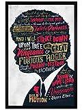 Pulp Fiction in schwarzes Holz eingerahmtes Ezekiel 25:17 Poster 61 x 91,5 cm
