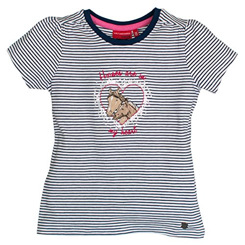 SALT AND PEPPER Mädchen T-Shirt Horses Stripes Blau