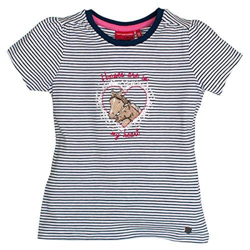 SALT AND PEPPER Mädchen T-Shirt Horses Stripes Blau