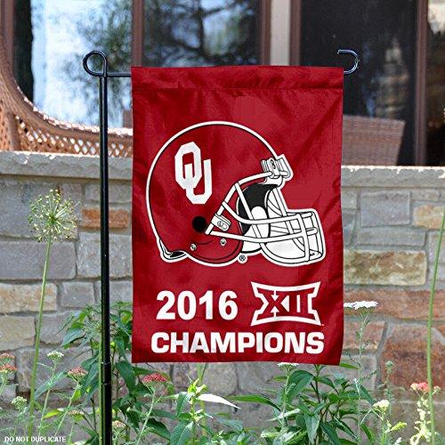 Universität von Oklahoma Sooners Big 122016Champions Garten Flagge -