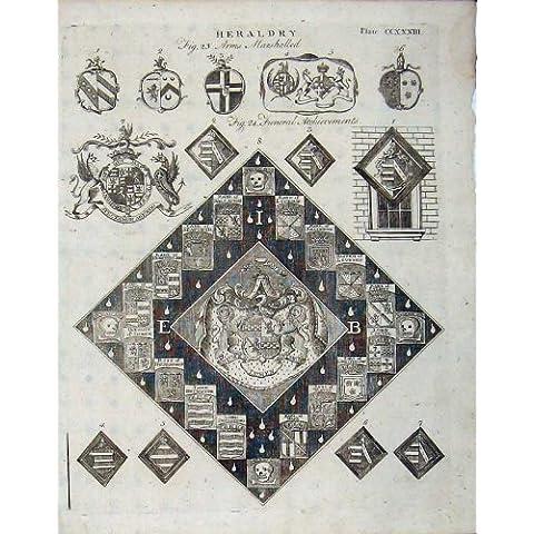 Il Cappotto dell'Araldica Arma l'Enciclopedia 1801 dei Distintivi Britannica - Cappotto Britannico Di Armi