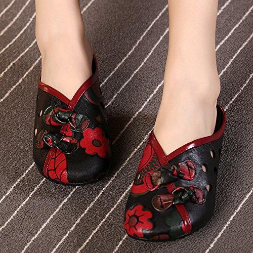 ZYUSHIZ Mme Cool Pantoufles Baotou Sandales pantoufles avec faible 39EU