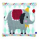 Vervaco elefante de circo cojín de punto de cruz