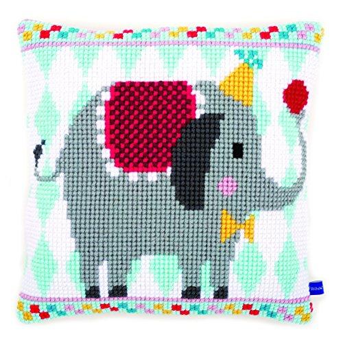 Vervaco 'Elefante de Circo cojín de Punto de Cruz