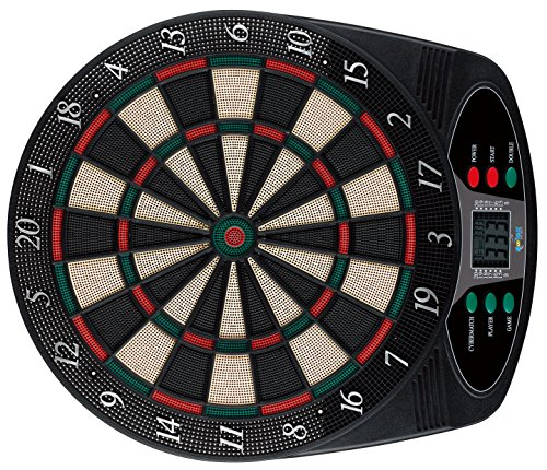 Solex Dartboard Electronic classic 8 Player 6 Soft Darts 24 Tips, mehrfarbig, 49 x 42 x 3 cm, 43317