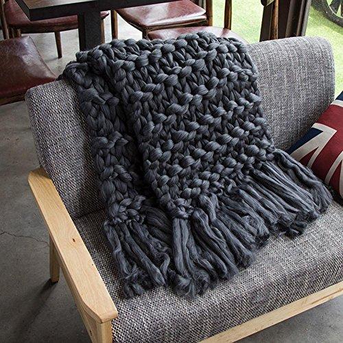 Quasten Handgewebte Klimavlies Sofadecke Gewebte Decke Fotografie Requisiten Decke Wohndecke Decke handgewebt Sofadecke Kaschmirdecke Wolldecke