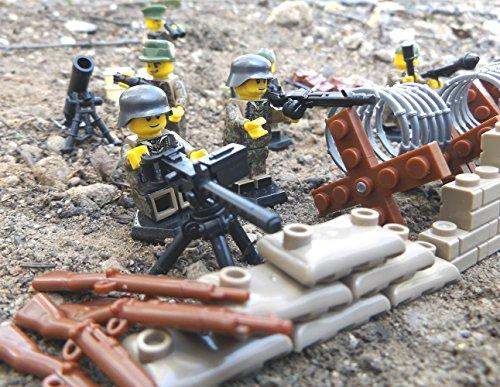 6 Stück Custom Minifiguren Wehrmacht Elite Soldaten, Landser und Offizier