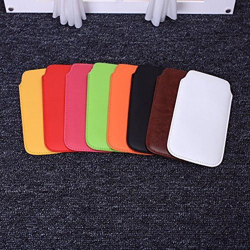 ekinhui Fall Cover NEU Farbe Premium Stylish Kunstleder Pull Tab Pouch Skin Schutzhülle für iPhone SE 5S 66S weiß