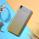 EINFFHO Coque ASUS Zenfone Live L1 ZA550KL (5.5), 2 in 1 Design Luxe Gradient Glitter...