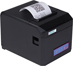 Everycom 80mm (3-inch) Direct Thermal Printer for Monochrome Desktop with Auto Cutter and Receipt Print (EC-801)