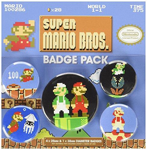 Pyramid International Écusson rétro Super Mario Bros Multicolore 10 x 12,5 x 1,3 cm