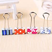 Coideal Pack of 24 Small Cute Lovely Printing Pattern Spring-Loaded File Organizer Paper Holder Metal Binder Clips…