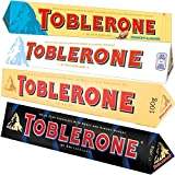 #6: Combo of Four Toblerone 100g White, Crunchy Almonds, Milk and Dark Swiss Chocolates, Free ChoocKick Eco Friendly Pen