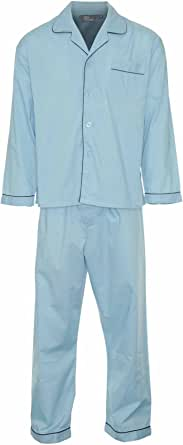 Champion Mens Pyjama Set Plain Coloured Spring Summer Long Sleeve Top and Trouser
