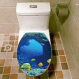 Wopeite Wc Deckel Aufkleber Keine Kleber Tropische Fische Unterwasser Ozean Sitz DIY Abdeckung Decor Abnehmbare Dekoration Liebe F¨¹r Badezimmer wc