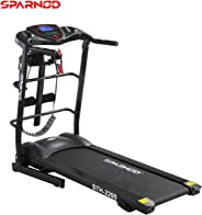 Sparnod Fitness STH-2200 (4 HP Peak) Automatic Treadmill (Free Installation Service) - Multifunction Foldable Motorized Runn