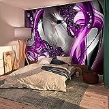 murando - Fototapete 350x245 cm - Vlies Tapete - Moderne Wanddeko - Design Tapete - Wandtapete - Wand Dekoration - Blumen Abstrakt Diamant Violett Grau Blitz a-A-0221-a-d