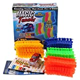 220 Pieces Magic Flexible Track Set Amazing Racetrack Glow in the dark car Can Bend Flex 11Ft Toys