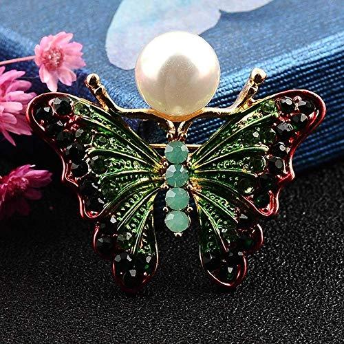 Fliyeong Mode Farbe Strass Schmetterling brosche weiblichen insektenstift Anzug Anzug Kleidung Cheongsam zubehör