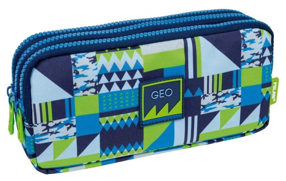 Portatodo Triple Milan New Geo Blue