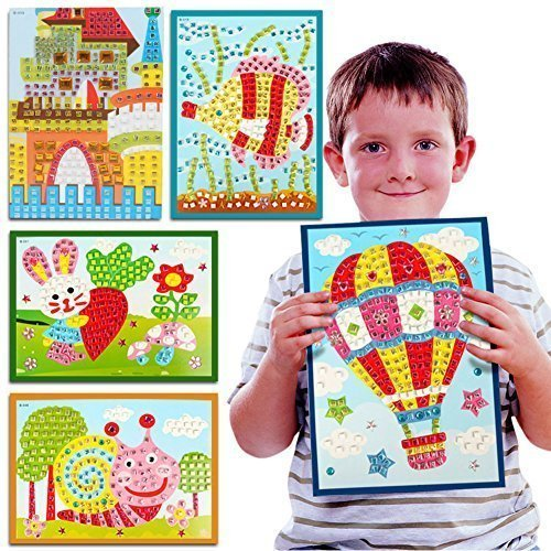 Sticky Mosaic Foam Stickers Multiple Patterns Pack Little Hands DIY Art Crafts