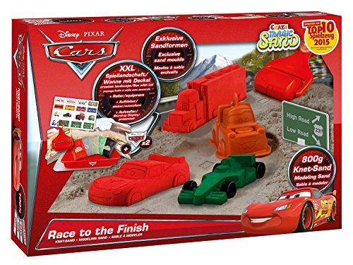 Craze 54261 - Magic Sand, Disney Cars Racing Set inklusiv Zubehör, 800 g, rot