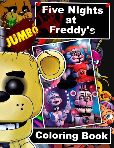 Five Nights at Freddy's JUMBO Coloring Book: 60 Illustrations for Kids and Adults por Jumbo Books