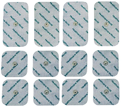12 Pieces Mixed Stud Tens Pads For Beurer and Sanitas