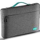 Ellitac Laptophülle 13 Zoll 13,3 Zoll MacBook Pro Retina/12,9 Zoll iPad Pro, Microsoft Surface Pro 3 / 4, Laptop Schutztasche, Spritzwasserfest, Grau / Grün