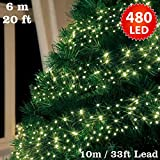 480 LED Cluster Lights - Warm white - Green Cable - Euro Plug