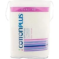Cotton Plus OVALI 40 pz. - LINEA BEAUTY | OVALI 100% PURO COTONE | Dischetti struccanti per la pulizia del viso soffici…