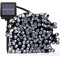 Guluman Outdoor Solar Fairy LED String Lights, 200 LED 72ft 22M Waterproof Solar String Garden Lights For Garden, Home, Christmas Tree,Party White