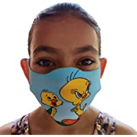 Lionsmill New Anti-Pollution Dust polyester face Mask For kids Boys Girls Unisex (Set Of 3) Multicolor cartoon masks (Yakky Doodle duck, kids size)