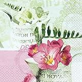 20 Servietten Freesia Vintage – Freesien-Klassiker / Blumen 33x33cm