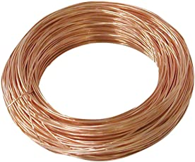 10 Meters Copper Wire - 21 Gauge (0.813 mm Diameter) - Dead Soft - 99.9% Pure Copper Wire - Without Enameled - DIY Jewellery & Artistic