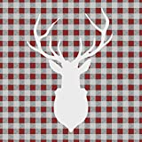 Ambiente Servietten Lunch / Party / ca. 33x33cm Deer Outline Red - Hirsch Rot - Ideal Als Geschenk