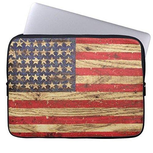 geordiet Vintage Patriotische amerikanische Flagge wasserabweisendem Neopren Laptop Computer Ärmel 38,1cm (Notebook Amerikanische Flagge)