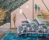 PALMAS 240x220 cm - SOLDES (visualisez tous nos soldes dans notre boutique Doran Sou Amazon) - Parure de lit pour 2 personnes : Housse de couette 240x220 cm + Taies d'oreiller 65x65 cm