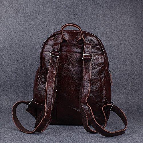 Meoaeo Retro Double Schulter Baotou Rindsleder Seite Mode Und Casual Lederhaut brown