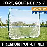 FORB Portable Golf Schlagnetze – 2.13 m x 2.13 m Garten & Außenbereich Feld Praxis Golfübungsgeräte