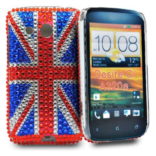Accessory Master Diamond Union Jack Schutzhülle für HTC desire C