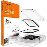 Spigen Proflex EZ Fit Screen Protector for Apple Watch Series 6 44mm and Apple Watch SE 44mm - 2 Pack, Transparent