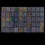 Anself 50 fogli 3D Mix colore floreale Nail Art Stickers adesivi per unghie decorazione accessori moda bella