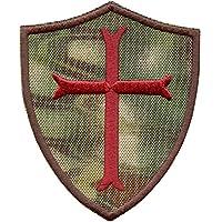2AFTER1 Kryptek Mandrake Crusaders Templar Cross US Navy Seals DEVGRU Sew Iron on Patch