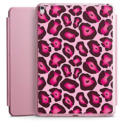 Ipad Animal-print Case (Apple iPad Pro 12.9 (2017) Smart Case rosa Hülle mit Ständer Schutzhülle Leo Pink Animal Print)